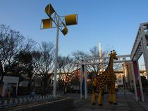 Sky Street Giraffe Osaka Kansai Japan Travel royalty free stock photography