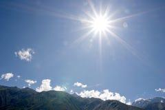 Sky and a sun Stock Photography