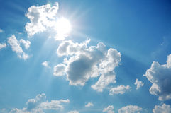 Sky with sun Royalty Free Stock Images