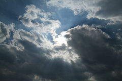 Sky and sun Royalty Free Stock Photo