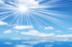 Sky and sun background. Royalty Free Stock Photos