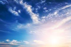 Sky with sun. Royalty Free Stock Photos
