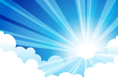 Sky Sun Cloud royalty free illustration