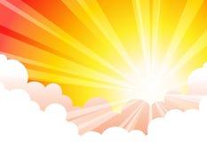Sky Sun Cloud stock illustration