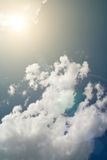 Sky with sun and clouds Royalty Free Stock Photos