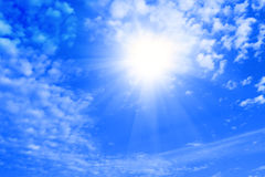 Sky,sun and clouds. Stock Photography