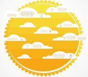 Sky, sun and clouds infographics Royalty Free Stock Photos