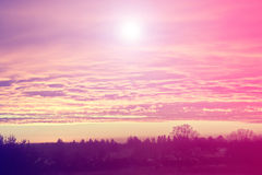 Sky and sun Royalty Free Stock Photography