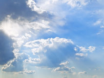 Sky and sun lights Royalty Free Stock Images