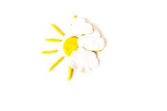 Sky and the sun. Made from plasticine Royalty Free Stock Images