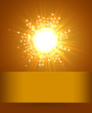 Sky and Sun. Magic Blur Design With Burst Rays Abstract Shining Background. Royalty Free Stock Photos