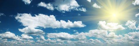 Sky and sun. Panorama. Stock Photo