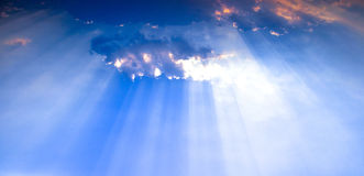 Sky sun rays Stock Photo