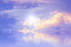 Sky Sun Sea Background Royalty Free Stock Photo