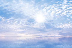 Sky Sun Sea Background Royalty Free Stock Images