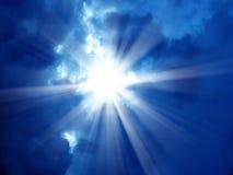 Sky and the sun shining Stock Photos