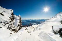Sky sun and snow Stock Image