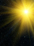 Sky  sun  stars. An abstract background Royalty Free Stock Photo