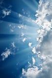Sky with sunbeams Stock Photo
