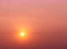 Sky. Sundown with red orange sky Royalty Free Stock Photos