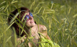 Sky in sunglasses Royalty Free Stock Image