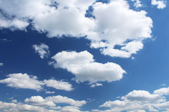 Sky in a sunny day Royalty Free Stock Photos