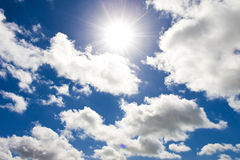 Sky and sunray Royalty Free Stock Images
