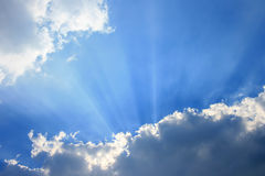Sky with sunray Stock Image