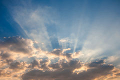 Sky with sunray Stock Images