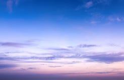 Sky in sunrise Stock Photos