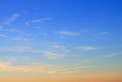 Sky at sunrise Royalty Free Stock Photography