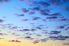 Sky before sunrise Stock Image