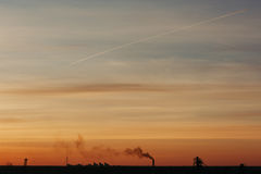 The sky at sunrise Stock Photography