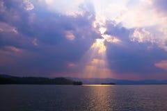 The sky sunset Stock Photo