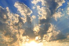 Sky and sunset Royalty Free Stock Photos