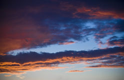 Sky at sunset. Image of the sky at sunset royalty free stock photo