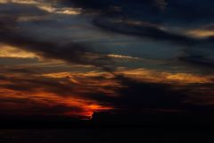 Sky Sunset. Adriatic Coast, Emilia Romagna, Italy. This photo is original, not modified royalty free stock photo