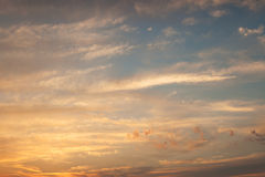Sky at sunset Royalty Free Stock Images