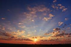 sky with sunset clouds stock photos