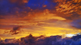 Sky at sunset. Stock Image