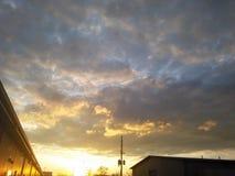 Sky at sunset royalty free stock photos
