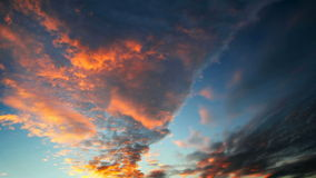 Sky before sunset Timelapse video stock footage