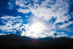 Sky and sunset. The sky is very beautiful Royalty Free Stock Photo