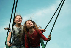 Sky swing royalty free stock photography