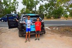 Sky Team Car And Fans La Vuelta España Stock Photography