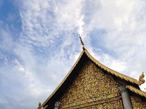 Sky and temple Royalty Free Stock Images