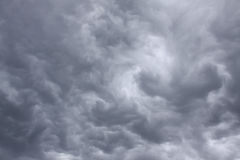 Sky with terrible thunderclouds – rain clouds Royalty Free Stock Image