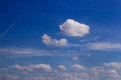 Sky with texture of burlap Stock Photography