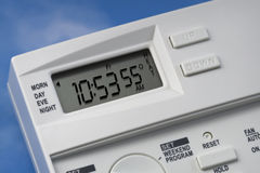 Sky Thermostat 55 Degrees Heat V1 stock images