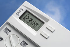 Sky Thermostat 68 Degrees Heat Royalty Free Stock Photos